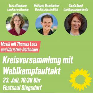 Wahlkampfauftakt KV Traunstein